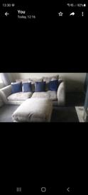 3 piece stunning grey sofa