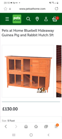 Used Hutch from pets at home