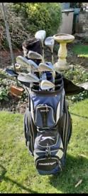 Golf Club Set, Trolley, Bag and Gloves