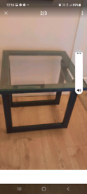 Metal and glass side table /coffee table garden table for salenot fr