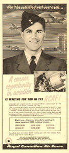 1956 half-page, print ad for RCAF Recruitment