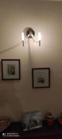 3 x chrome wall lights £5 each
