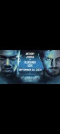 Joshua vs Usyk 3 tickets