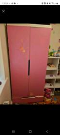 Free single pink childrens wardrobe