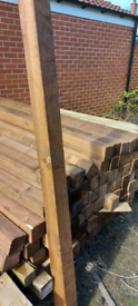 8 foot fence posts boards and rails