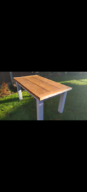 Solid Pine Farmhouse Dining Table