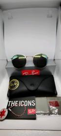 Ray-ban round sunglasses yellow/green