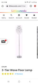 Vincenza 3-Tier Wave Floor Lamp