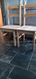 Set of two natural wood dining tables collect leeds 10
