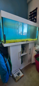 "Jewel Rio 180 3"" Fish tank aquarium with stand white"