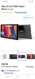 ALBA 10.1ince tablet / worth £89.99 in argos/ cash or swap