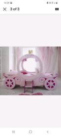 Princess carriage bed single girls