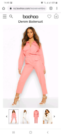 Brand new. PINK UTILITY DENIM BOILERSUIT - PINK size 4. for sale £10.
