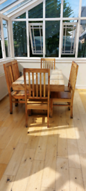 Handmade table and chairs