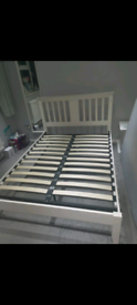 White Time4Sleep Double Bed Frame