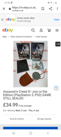 Assassin creed 3 join or die edition with all the extras for the game