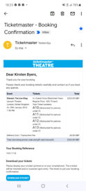 4 Lion King tickets for Friday 28th January 2022