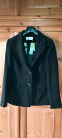 Black suit jacket, size 12