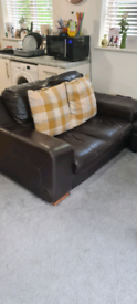 2 seater sofa and foot stall
