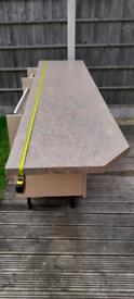 Kitchen laminate worktop 2400mm x 600mm x 40mm