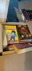 2 boxes of kids books