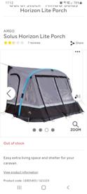 Inflatable caravan porch Horozon light
