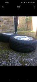 2 x Mercedes alloy wheels