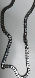 """Mens Curb Necklace Chain 20"""" 5MM"""