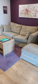 Beautiful Large Sofa, Armchair & storage/footstool