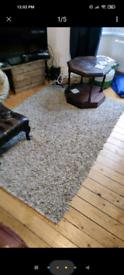 IKEA Large grey leather rug