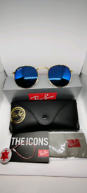 Ray-ban round sunglasses blue