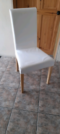 Ikea chair with removable cover.