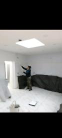 Handyman worker and garden cleaner