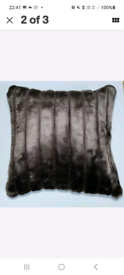 4x New large Filled Fur Cushions £24