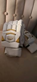 Newbery Legend White and Gold cricket gloves