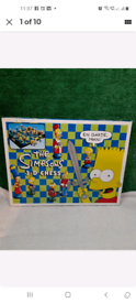 Vintage THE SIMPSONS 3D Chess Set Game (1991)