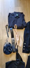 Ex-Hire Full Kilt outfit- Solid Black Tartan