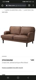 Ikea stocksund 2 seater brown suede sofax