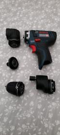 Bosch 12V Drill FC15 + Recipricator saw.