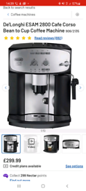 Delonghi Cafe Corso - Bean to cup coffee machine! Like New!