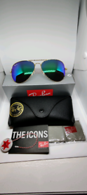 Ray-ban aviator sunglasses green/blue