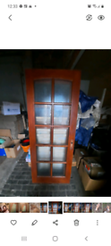 Maghony glass doors