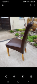 2 x leather chairs
