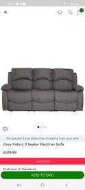 2x 3 seater recliner
