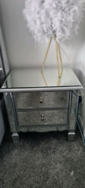 Mirage mirrored bedside chest