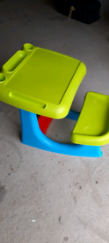 Childs desk with integrated seat
