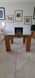 Two large solid wood side tables *top quality*