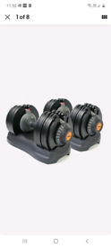 Pair Athlyt 25kg Adjustable Dumbbells- 12 weights in 1