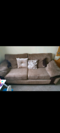 2 x 2 seater sofa and stool