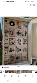 Wooden backed rubber stamps